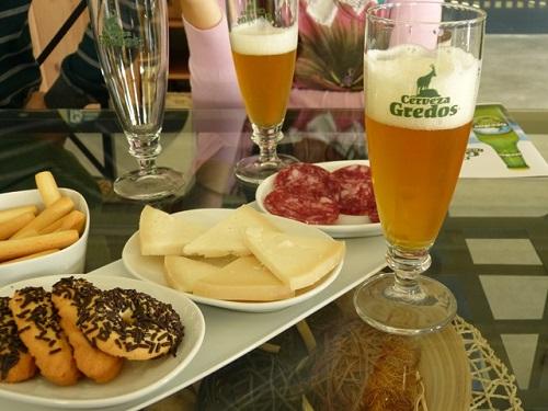 Fábrica de cervezas Gredos, en Hoyocasero. Maridaje.