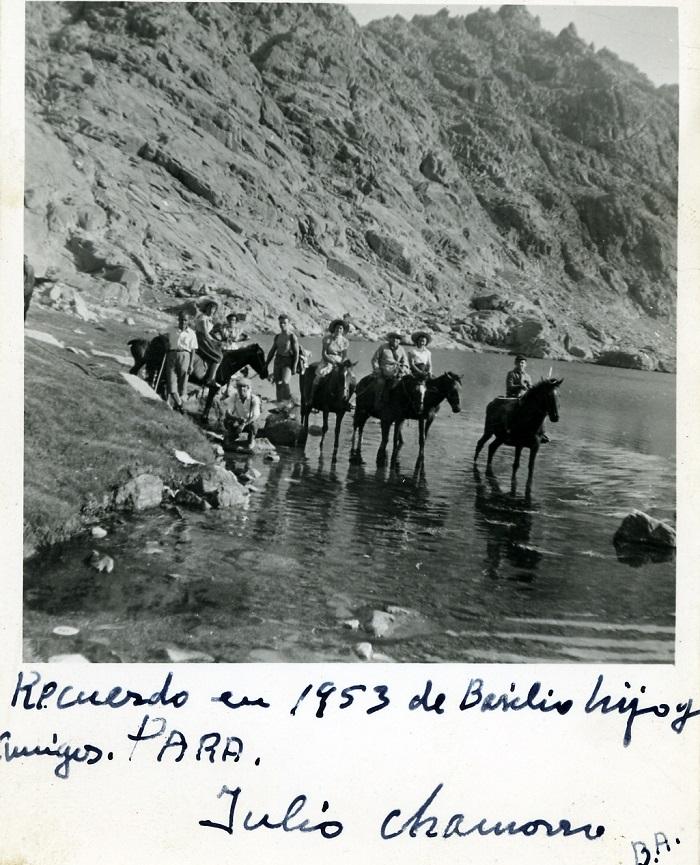 caballos en la laguna, principios de siglo