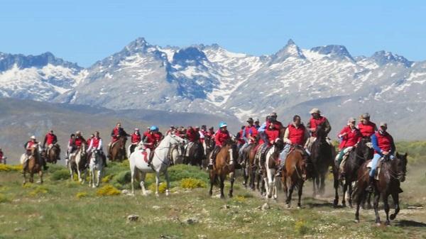 Concentración a caballo en Gredos. Foto: Gredos a caballo