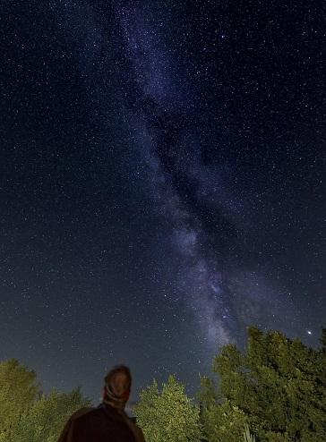Vía Láctea. Turísmo astronómico en Gredos. Fotografía: Edu González.