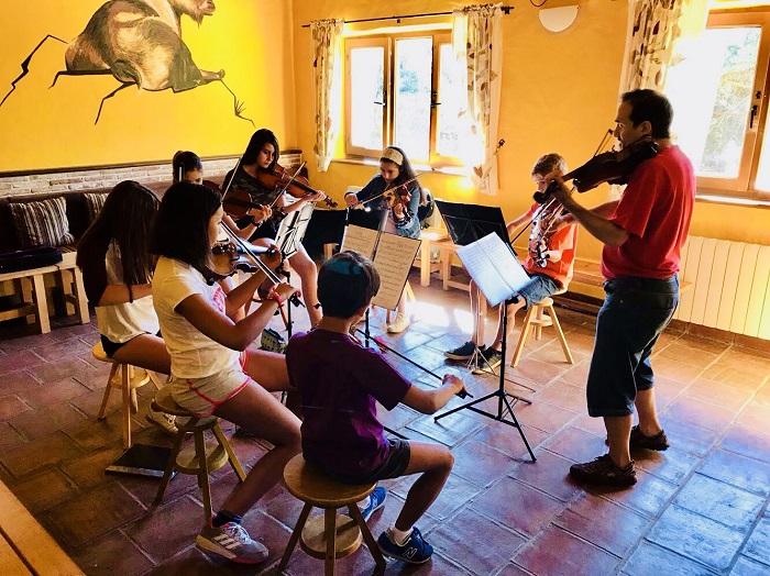 Musicinema. Campamento de verano de música en Gredos.