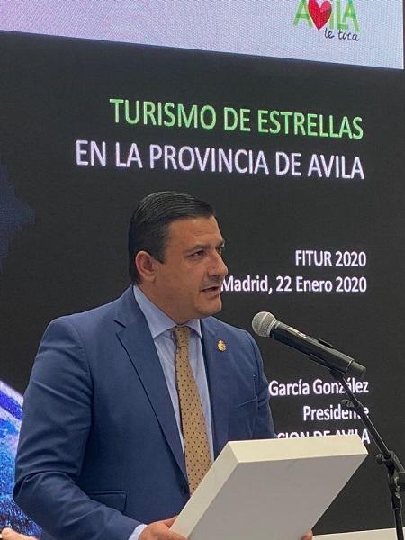 Carlos García, presidente de la Diputación de Ávila,