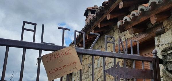 casa del altozano cerrada por Coronavirus