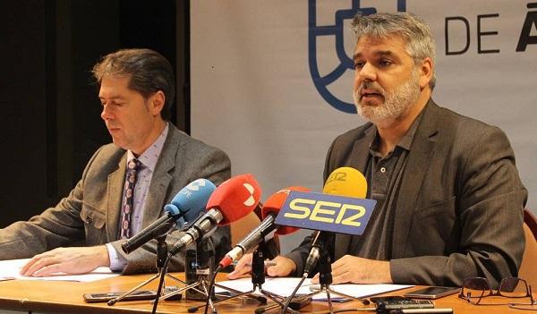 Armando GarcÍa (Diputado del Área de Asuntos Europeos, Energía y Turismo) y Roberto Rodríguez.