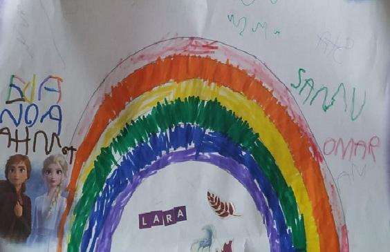 Dibujo niños del CRA Alto Gredos.