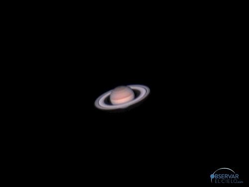 Saturno visto desde Polaris, observatorio astronómico en Gredos.