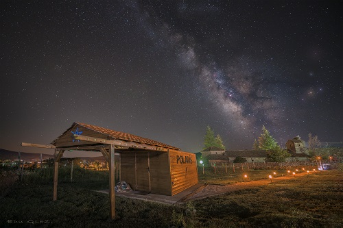 Vía Láctea desde Polaris, en Barajas. Foto: Eduardo González.