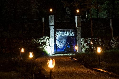 Entrada del observatorio Polaris, en Barajas, Navarredonda de Gredos. Foto: Fernando Apausa.