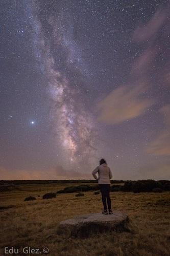 Vía Láctea en Gredos. Foto Eduardo González.