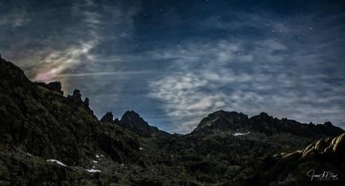 Noche estrellada en Gredos.