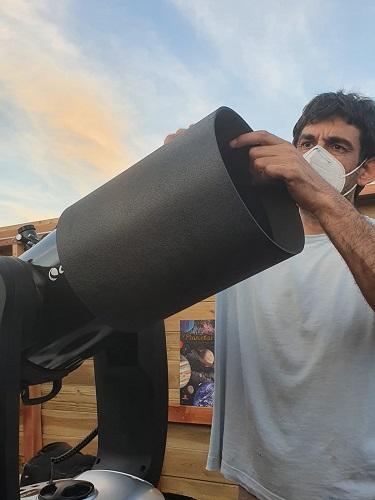Montando telescopio en Polaris