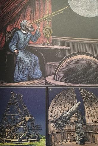 Ilustración del libro Planetarium. Editorial Impedimenta.