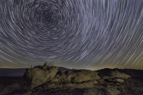 Circumpolar en el cerro de Navarredonda de Gredos,