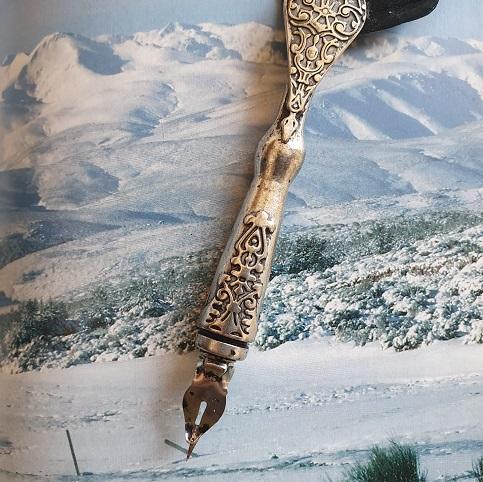 Realizado por Eva Veneros para Ilustrar el reportaje sobre Gredos inspiración para poetas y escritores