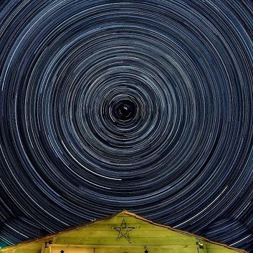 Circumpolar vista desde el observatorio Polaris, en Barajas, Navarredonda de Gredos. Ávila. Foto: Fernando Apausa.