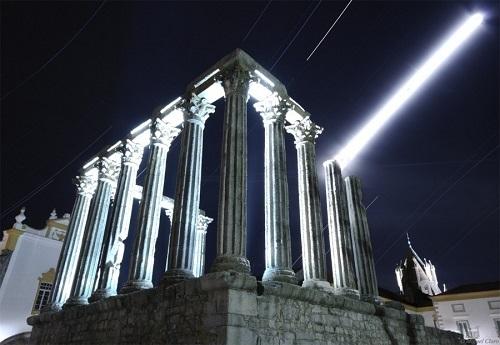 Templo de Diana, en Evora. Foto Miguel Claro.
