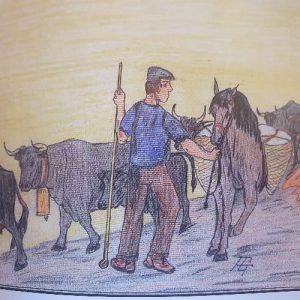 Ilustración del libro cordel historias de la trashumancia