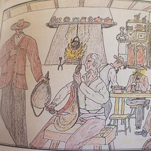 Ilustración del libro Cordel. Historias de Trashumancia.